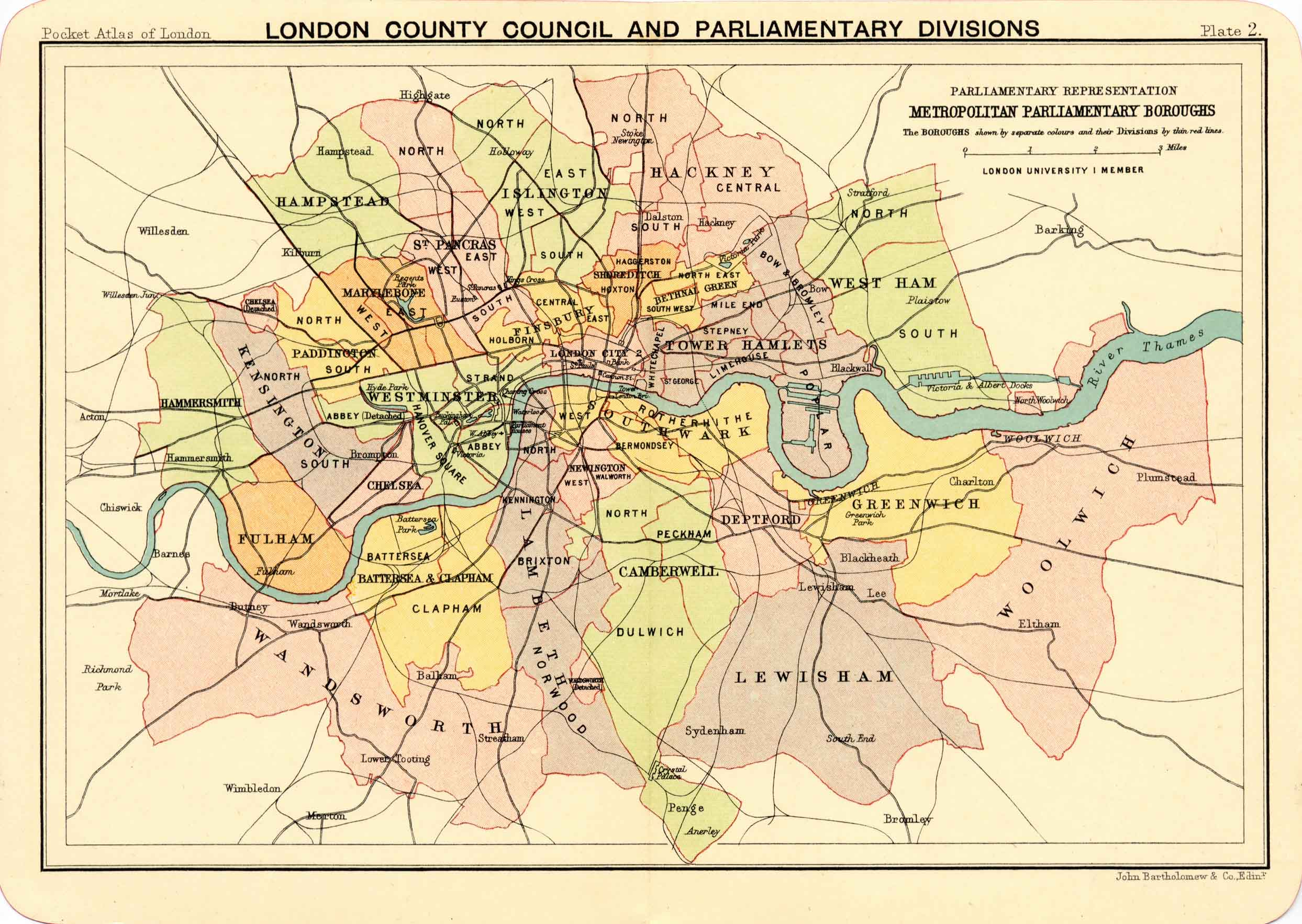 County of London map